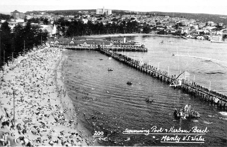 Manly beach, baths and Fun Pier