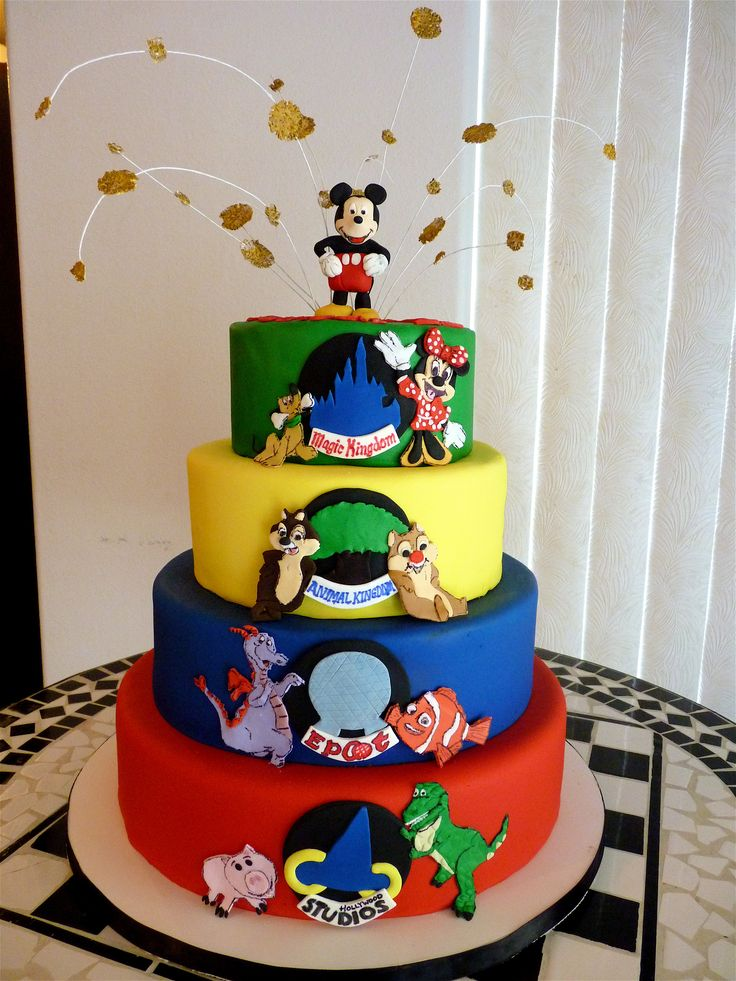 Best O Disney Cakes Images On Pinterest Disney Cakes - Disney birthday cake ideas