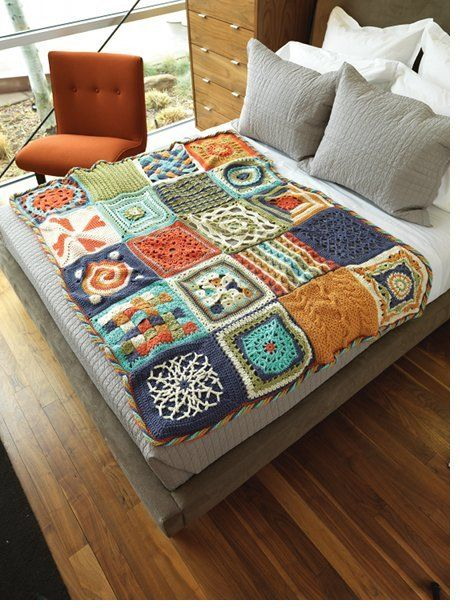LOVE this crocheted quilt
