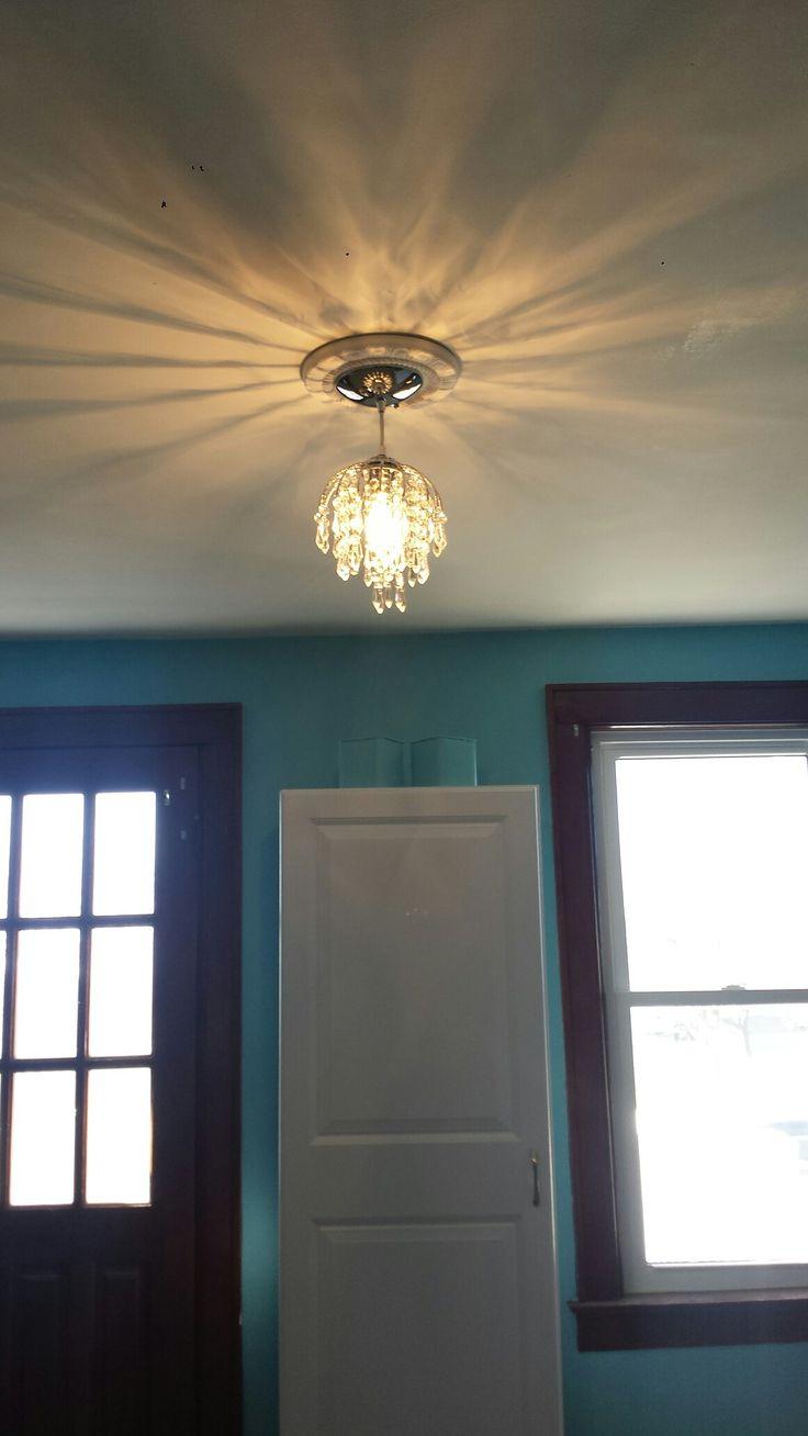 mini chandelier to make the room fun!
