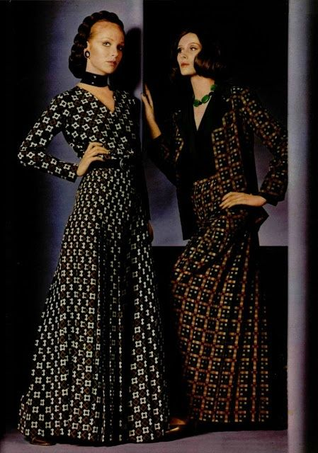 Yves Saint Laurent Collection spring/summer 1970 AVeryGoodLife.com ~ A New York Story