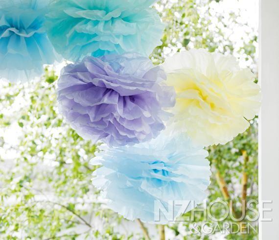 Tissue Paper Pompoms