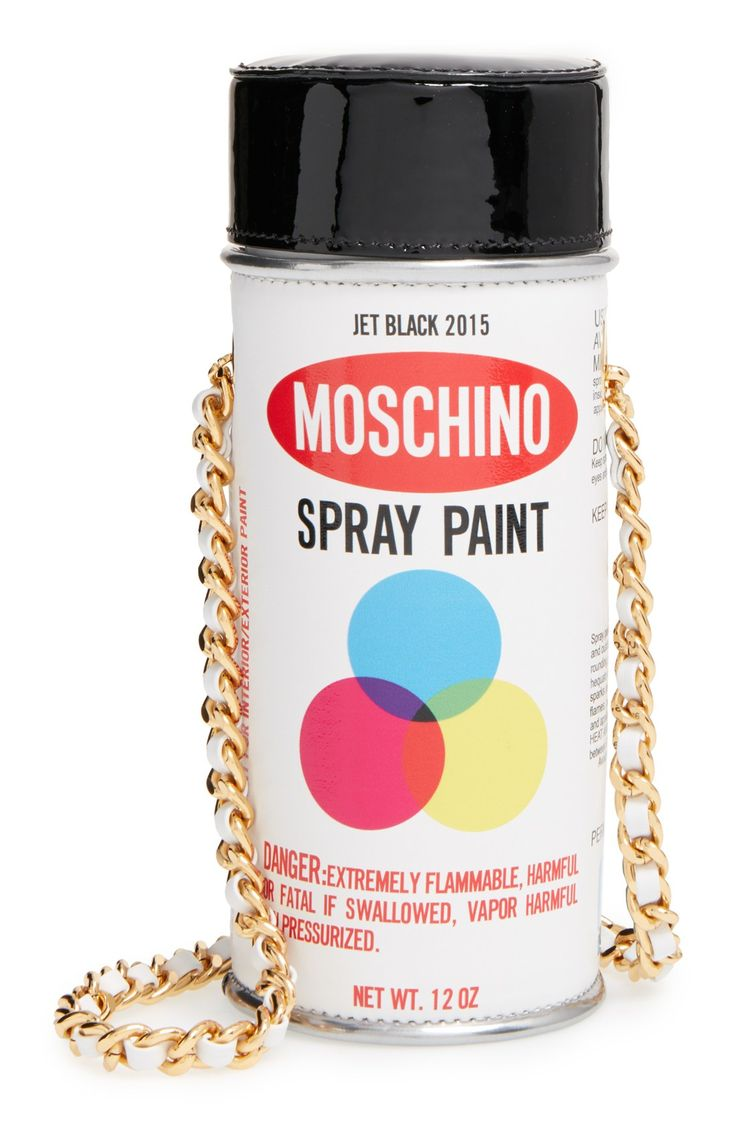 Moschino'Spray Paint Can' Leather Crossbody Bag