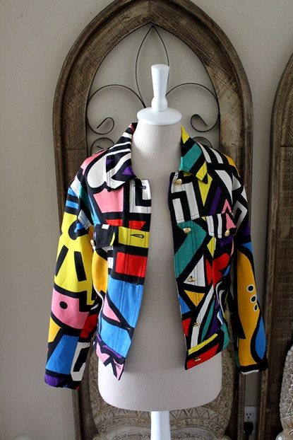 Vintage 80s Rare Moschino Jeans Graphic Abstract by ...
