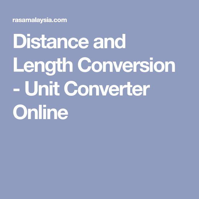 Distance and Length Conversion - Unit Converter Online