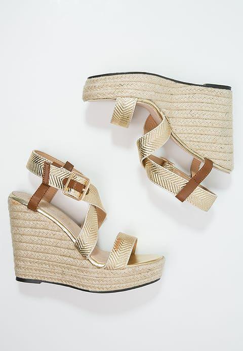 Chaussures Cassis côte d'azur ISO - Sandales à plateforme - or or: 58,00 € chez Zalando (au 04/03/17). Livraison et retours gratuits et service client gratuit au 0800 915 207.