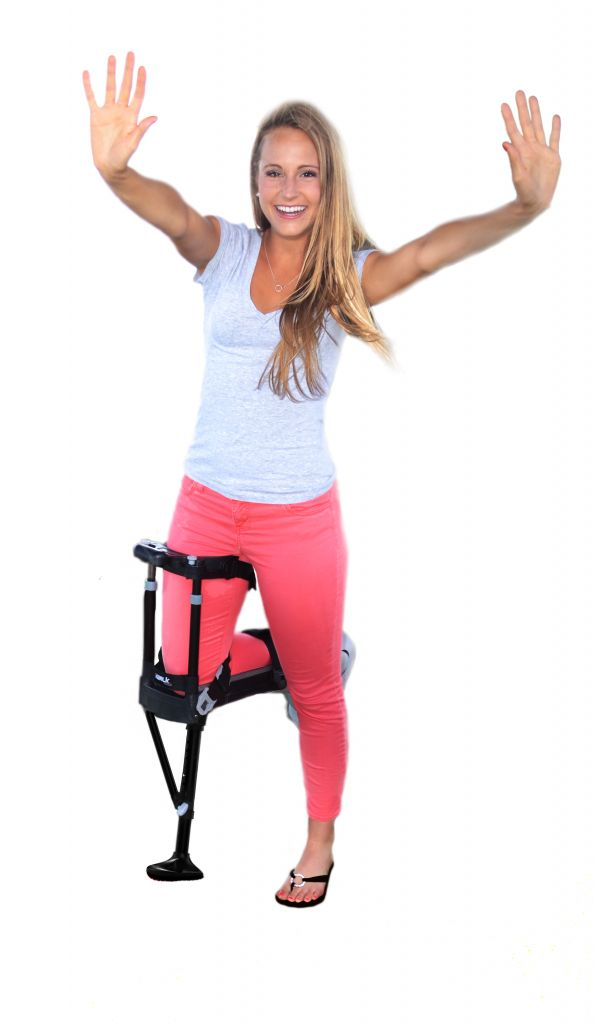 iWalkFree 2.0 - A knee crutch that lets you walk with your hands free - for people with injuries below the knee..