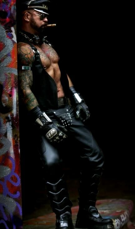 from Graysen male leather gay daddy photos