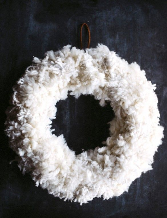 Cimaise Bois Ikea : Anthropologie White Wreath