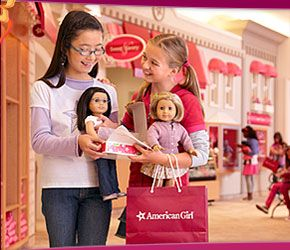 The American Girl Store  I remember what fun! Thanks girls! Loved my special day!
