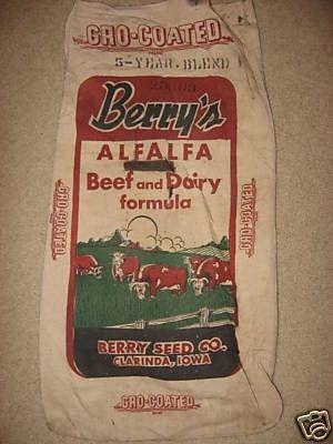 Berry's Beef & Dairy Formula Berry Seed Co. Clarinda, Iowa 16x32