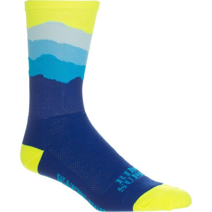 DeFeet Ridge Supply Skyline Aireator Hi Top 6in Sock Neon Yellow Top XL