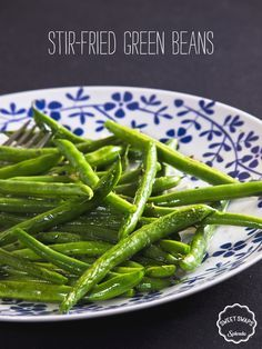 Stir-Fried Green Beans Swap out your take-out for this Asian-inspired dish. These green beans are quickly stir fried in a sweet ginger sauce and are loaded with delicious flavor. Made with SPLENDA® No Calorie Sweetener, they're a smart option without...