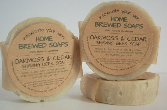 Father's Day Gift Idea. Best Shaving Soap for Men Shaving SoapNatural by HomeBrewedSoaps, $7.00 #fathersday