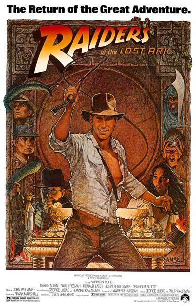 Indiana Jones Raiders of the Lost Ark Movie Poster 11x17