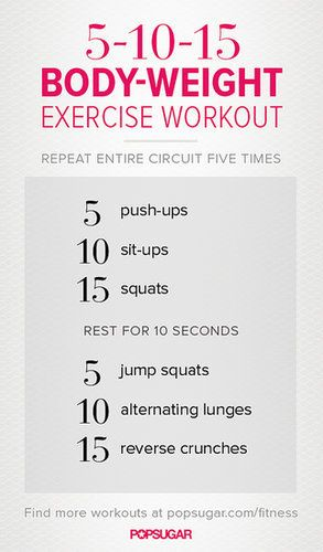 This 5-10-15 workout is the perfect starter workout for bodyweight beginners
