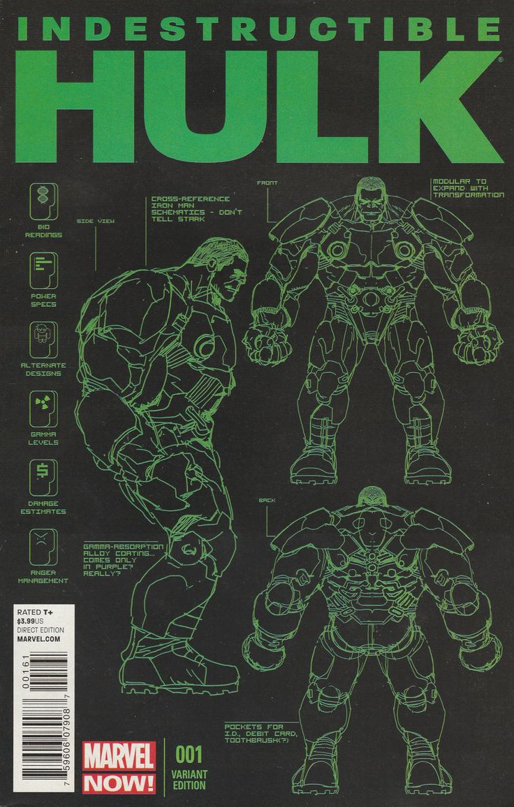 Indestructible Hulk # 1 Marvel Now! Variant Cover 1.25