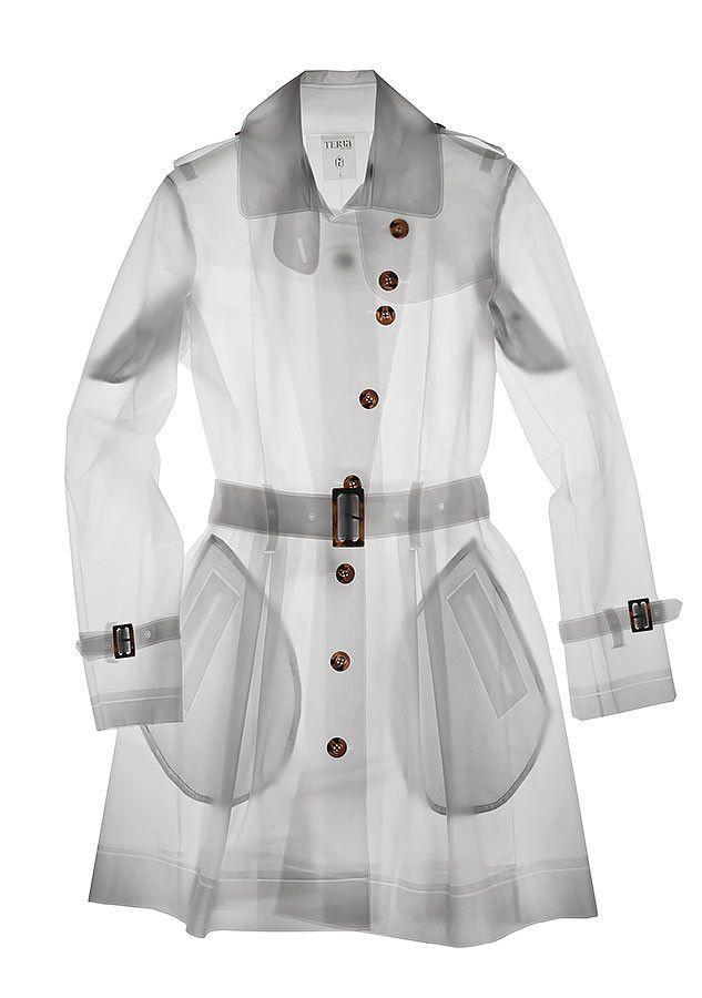 Designer Raincoats: Find Designer Raincoats at TerraNewYork — Tribeca / Frosty White