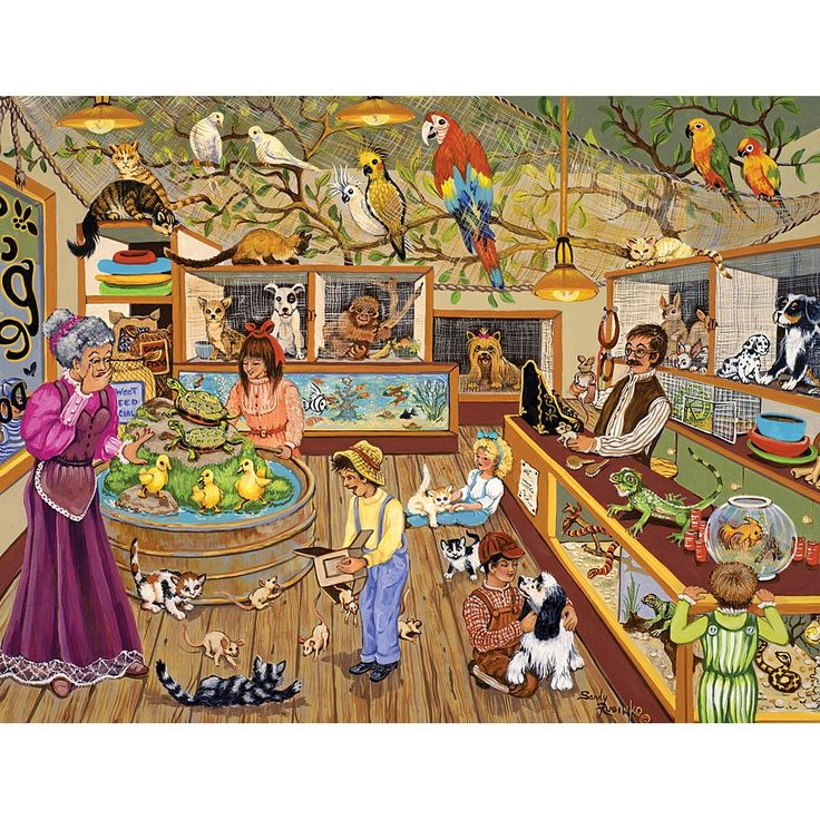 Praatplaat dierenwinkel, kleuters
