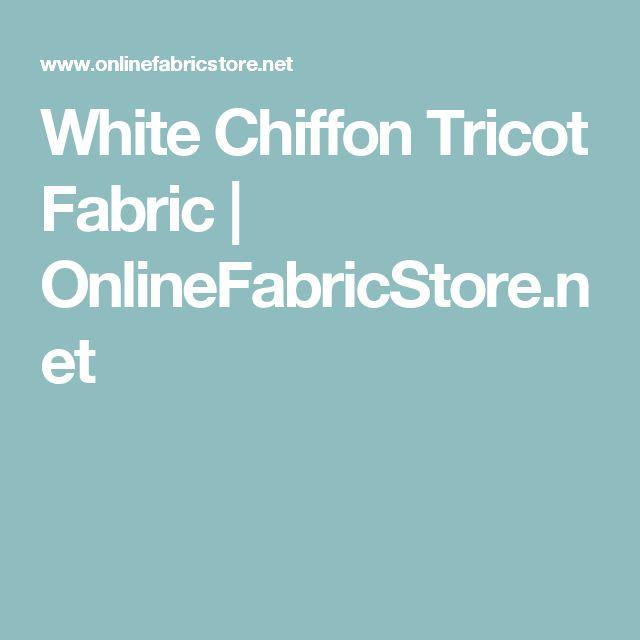 White Chiffon Tricot Fabric | OnlineFabricStore.net