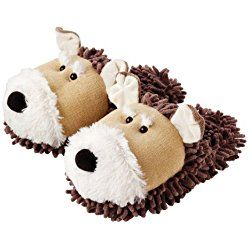 Dog Fuzzy Friends Adult Slippers - One Size Women's