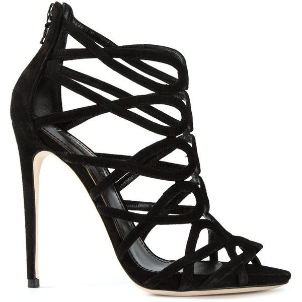 1000  ideas about Black Strappy Sandals Heels on Pinterest ...