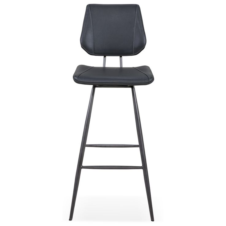 The Crossroads Vinson Bar Stool, Shown In Cobalt. Designed And Manufactured  By Modus Furniture International.