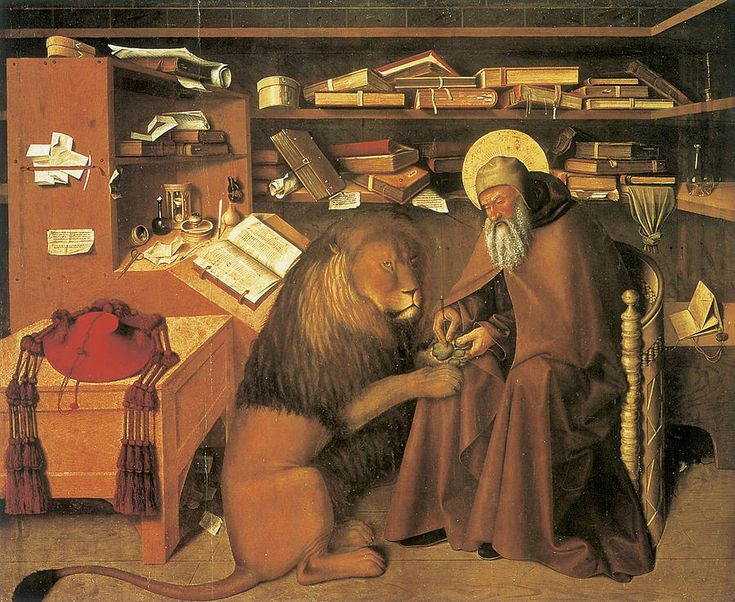 Saint Jerome In His Study Painting  - Saint Jerome In His Study Fine Art Print