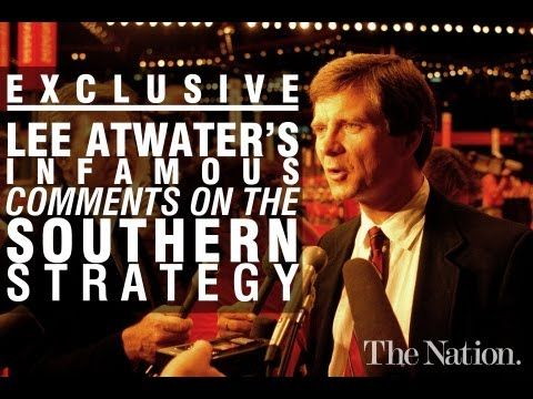 James Carter IV (President Carter's Grandson), has dug up the entire forty-two-minute interview from which that quote derives. Here, The Nation publishes it in its entirety for the very first time. REPUBLICAN RACISM HAS DEEP ROOTS. If you never read or listen to anything else I pin PLEASE read and listen to both audios http://www.thenation.com/article/170841/exclusive-lee-atwaters-infamous-1981-interview-southern-strategy?rel=youtube#