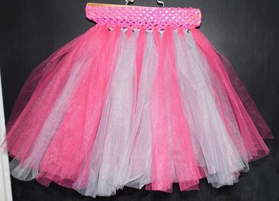 Pink and Grey Tutu by MajackalCreations on Etsy, $20.00