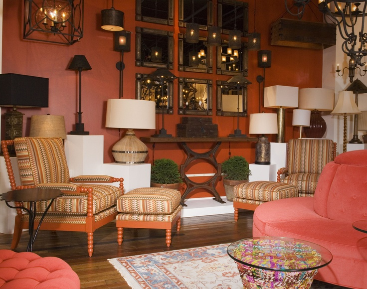 Vintage American and Tomato Red! | Currey Showroom | High ...