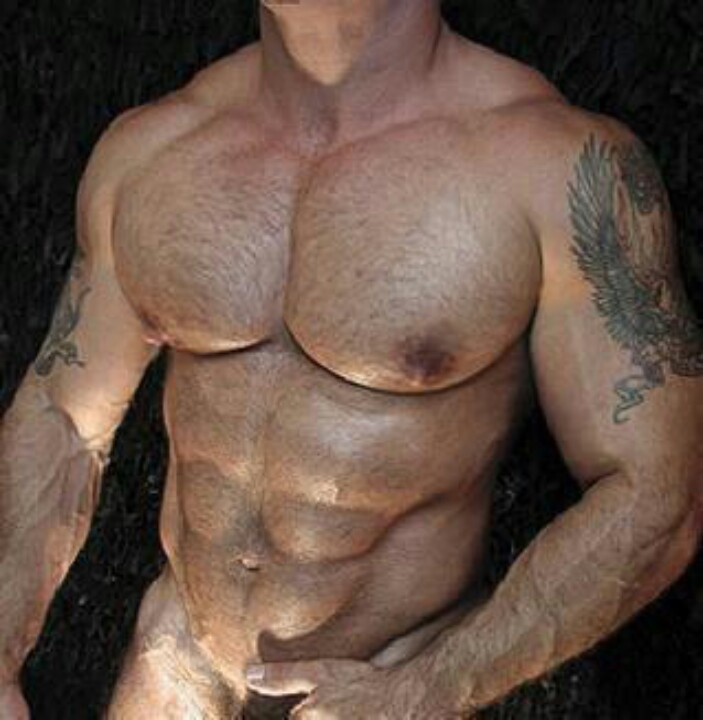 Nude men with erections