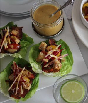 Lettuce Cups with Bacon