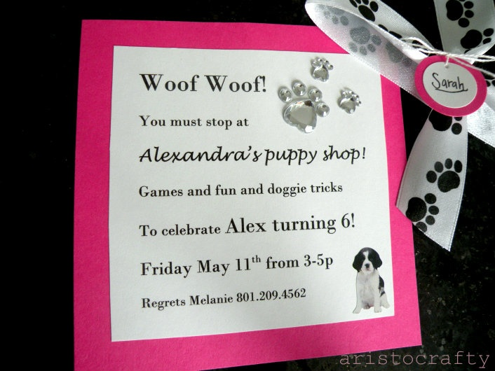 The 106 best puppy party images on pinterest puppy party aristocrafty puppy birthday party stopboris