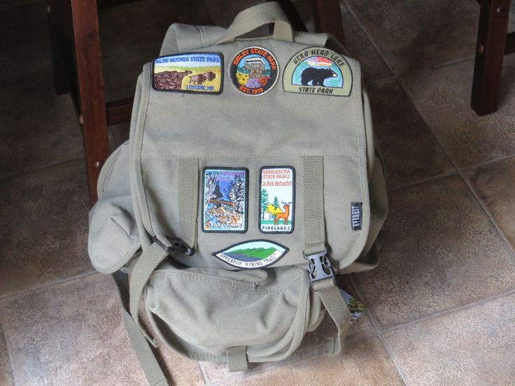 Patches On Backpack Frontier Girls And Quest Clubs Aka