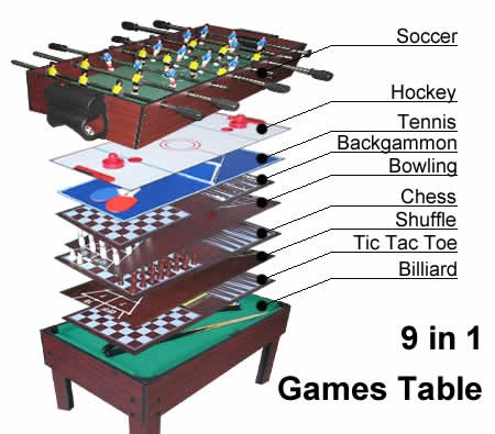 Enjoy 9 games in 1 table! Save more this is now on #SALE! $137.95