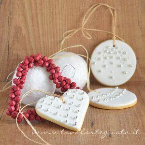 Biscotti di Natale decorati in Pasta di Zucchero
