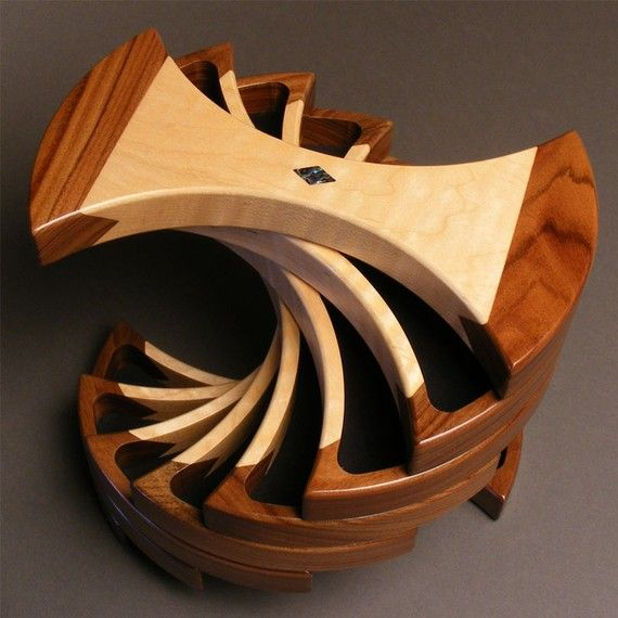 the helical box is a unique symmetrical design that pivots on extraordinary creative wooden furniture design id=29158