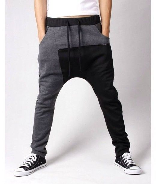 pants black white sweatpants comfy leather grey sweatpants harem pants mens wear