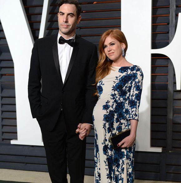 C'est un garçon pour Isla Fisher et Sacha Baron Cohen | HollywoodPQ.com