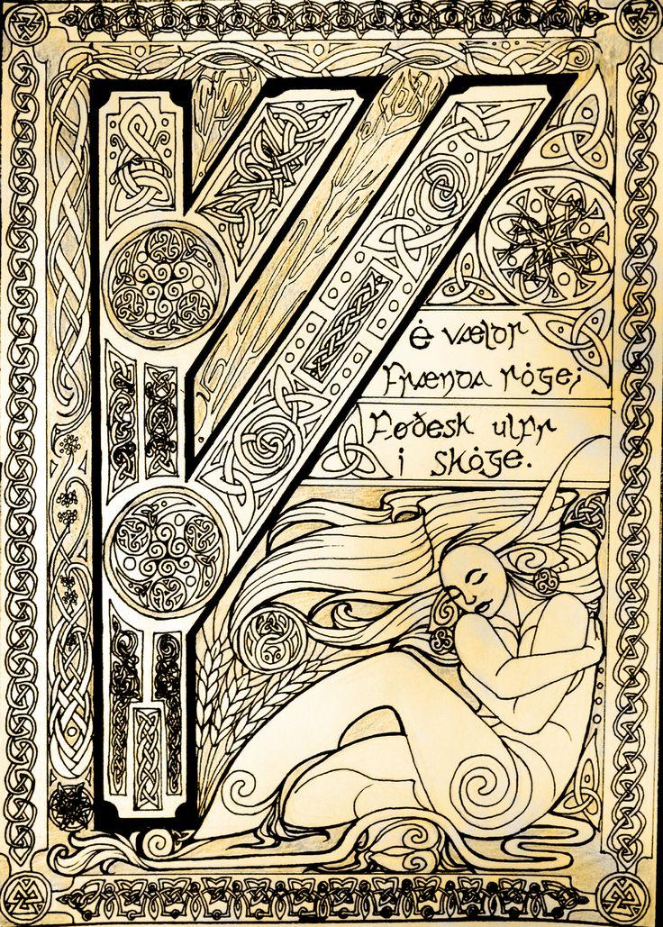 Runic Illumination - Fehu by EjLowell.deviantart.com on @DeviantArt