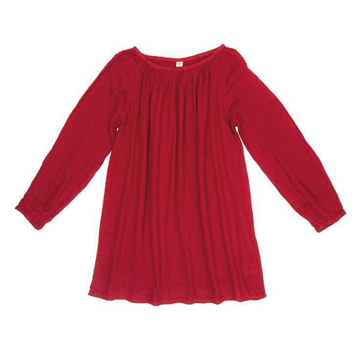 Tunika Nina - dla dorosłych - rubinowa czerwień Mofflo