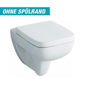 Keramag Renova Nr. 1 Plan Tiefspül-WC L: 54 B: 36 cm, wandhängend, ohne Spülrand weiß mit KeraTect