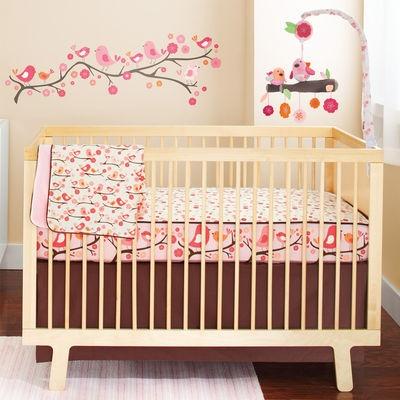 PInk birdie nursery theme