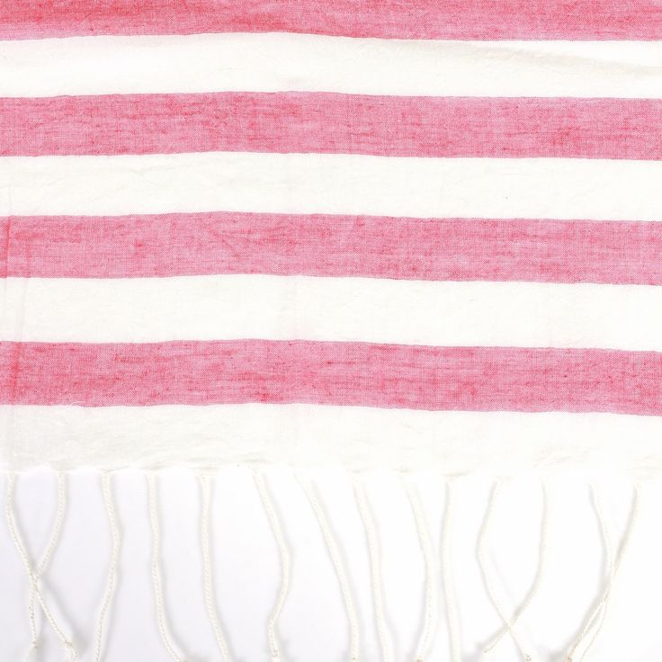 Broad Stripes Cotton Stole - Classic cotton stole in a variety of colour options in broad stripe designs.