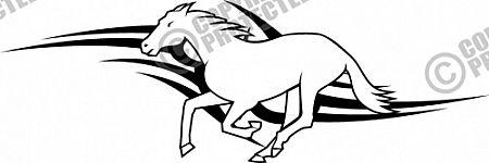 Free Sample Vinyl Ready Tribal Animal Horse Vector Image Download