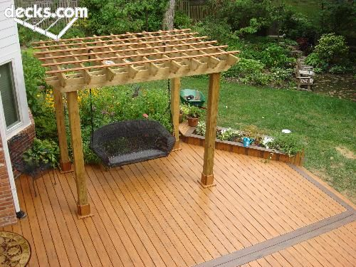 Stand Alone Pergola Designs : Deck stand alone canopy for the home pinterest