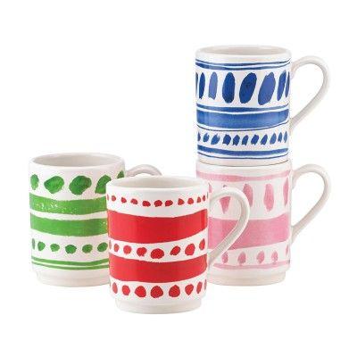 Kate Spade New York® Pretty Pantry Stacking Mugs, Set of 4 #katespade #mugs #giftsforgrads