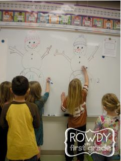 Snowman Math Races - a fun way to practice math facts this winter. You could also do it with multiplication/division facts.