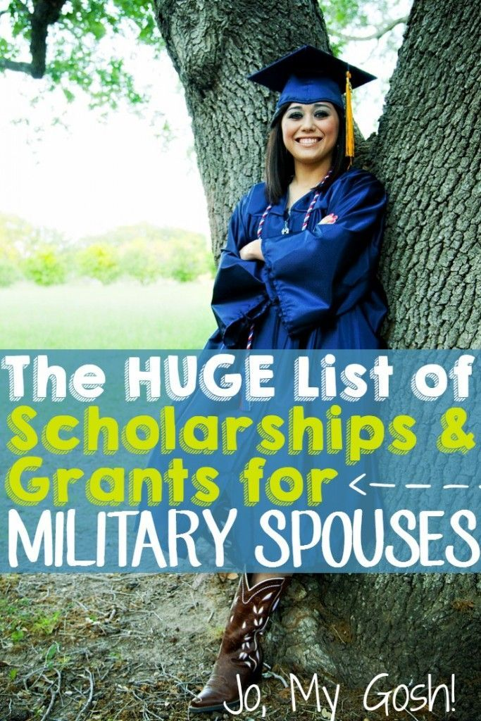 Tons of resources for scholarships and grants for military spouses, college, education